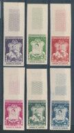 Cambodge N°57 à 62** Non Dentelés 2è Série Couronnement - Cambodge