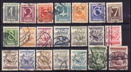 AUTRICHE ( POSTE ) : Y&T N°  331/350  TIMBRES  TRES  BIEN  OBLITERES . - 1918-1945 1ère République