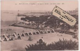 17 Royan - Cpa / Le Square Botton - Les Deux Jetées. - Royan