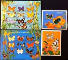 Maldives 2000** Klb.3400-08, 3409-17 + Bl.442, 443. Butterflies [10;9] - Papillons