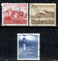N+ Norwegen 1977 Mi 739-41 Bauwerke - Norvège