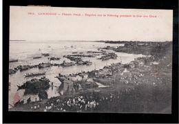 CAMBODIA  Cambodge Phnom Penh Regates Sur Le Mekong Pendant La Fete Des Eaux Ca 1910 OLD POSTCARD 2 Scans - Cambodia