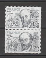 FRANCE / 1980 / Y&T N° 2095 ** : Violet-le-Duc X 2 En Paire - Gomme D'origine Intacte - France