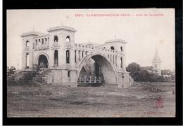 CAMBODIA  Cambodge Phnom Penh Pont De Verneville Ca 1910 OLD POSTCARD 2 Scans - Cambodia