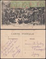 """Nouvelle-Calédonie 1908 - CP Nouvelles-Hébrides """" Enterrant Leurs Morts Malakula """" (5G) DC1140 - Nouvelle-Calédonie"""