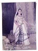 Musica Lirica - Autografo Della Cantante Soprano Luciana Serra - Anni '80 - Autografi