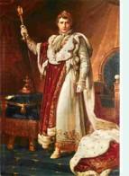 Histoire - Peinture - Portrait - Empereur Napoléon 1er En Costume De Sacre D'après Gérard - Voir Scans Recto-Verso - Histoire