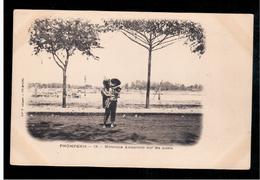 CAMBODIA  Cambodge Phnom Penh Norrice Annamite Sur Les Quais Ca 1910 OLD POSTCARD 2 Scans - Cambodia