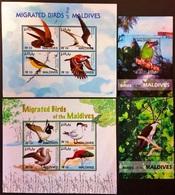 Maldives 2007** Klb.4570-73, 4574-77 + Bl.605,607. Birds [8;99/10;10,12,136] - Birds