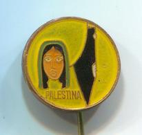 PALESTINA PLO - Palestine Liberation Organization (PLO), Enamel, Vintage Pin, Badge, Abzeichen - Associations