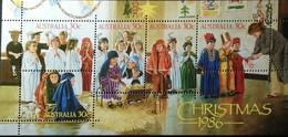 Australia  1986 Christmas S/S - 1980-89 Elizabeth II
