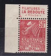 PUBLICITE: FEMME DE FACHI 50C ROUGE LA REDOUTE Filatures H  ACCP 694** - Advertising