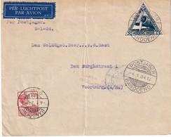 INDES NEERLANDAISES 1934 PLI AERIEN DE BANDOENG - Indes Néerlandaises