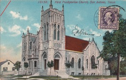 CPA -First Presbyterian Church, San Antonio, Texas-1914 - 2scans - San Antonio