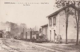CUNFIN - LE TRAIN EST ARRIVE EN GARE - TRES BELLE CARTE - SEPIA - ANIMEE -  TOP !!! - France