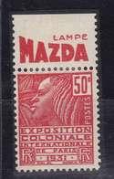 PUBLICITE: FEMME DE FACHI 50C ROUGE LAMPE MAZDA-décroissant H ACCP 686** - Publicités