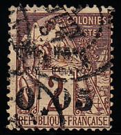 """GUYANE - N°  2b - Sans Le """" F """" - Double Surcharge - (1 Point De Rousseur) - Signé Brun. - Guyane Française (1886-1949)"""