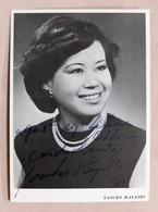 Musica Lirica - Autografo Della Cantante Soprano Yasuko Hayashi - 1980 - Autografi
