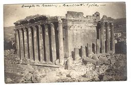 LIBAN - Temple De Bacchus - BAALBEK  - CARTE PHOTO - PHOTO CARD - 1928 - Liban