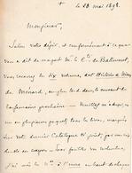 1898 - L.A.S. François Marie Anatole De CABRIERES (1830-1921) Cardinal - Evêque De MONTPELLIER - Documentos Históricos
