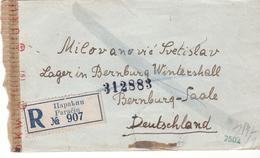 PRISONNIER  DE GUERRE 40 45 SERBIE VERS STALAG LAGER BERNBURG CENSURE MECANIQUE LETTRE G  19440 45 - Militaria