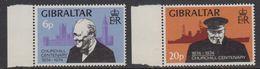 Gibraltar 1974 Winston Churchill 2v ** Mnh (41485D) - Gibraltar