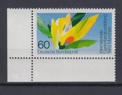 Bund 1174 Eckrand Links Unten Gartenbau Ausstellung München 60 Pf Postfrisch - [7] République Fédérale