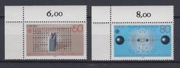 Bund 1175-1176 Eckrand Links Oben Europa Große Werke 60 Pf, 80 Pf ** - BRD