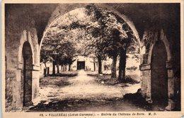 47 - VILLEREAL --  Entrée Du Château De Born - France