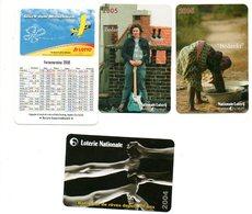 Lotto Lotterie Loterij 2004 2005 2008  Kalender Calendrier Calendar Tasschenkalender 4 Stuks/pcs - Calendriers