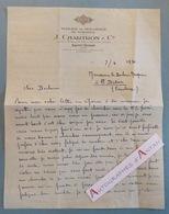 L.A.S 1931 J. CHARTRON - SAINT DONAT - Tissage Et Moulinage De Soiries - Lettre Autographe LAS - Artesanos