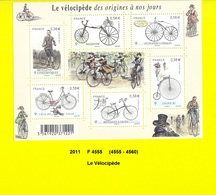 Feuillet De 2011 Neuf ** Y&T N° F 4555 Le Vélocipède - Neufs