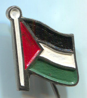 PALESTINE - Polisario, Flag, Political Party, National Front, Vintage Pin, Badge, Abzeichen - Associations