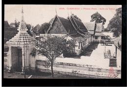 CAMBODIA  Cambodge Phnom Penh Salle Du Trone Ca 1910 OLD POSTCARD 2 Scans - Cambodia