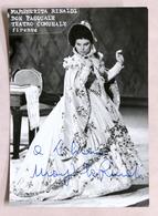 Musica Lirica - Autografo Della Cantante Soprano Margherita Rinaldi - Anni '60 - Autografi
