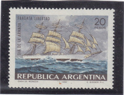 "V17 - ARGENTINE - 812 **MNH De 1968 - GRAND VOILIER - "" LIBERTAD "" - Argentine"