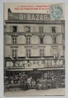 CPA Beauvais, Grand Bazar, Place De L'Hôtel De Ville Et Rue Louvet, Cachet Date 1905, Oise - Beauvais