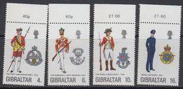 Gibraltar 1974 Uniforms 4v ** Mnh (41485D) - Gibraltar