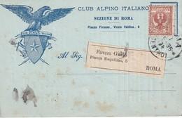 ITALIE 1905 CARTE DU CLUB SKI ALPIN DE ROME - 1900-44 Victor Emmanuel III