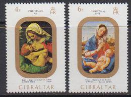 Gibraltar 1974 Christmas 2v ** Mnh (41485E) - Gibraltar
