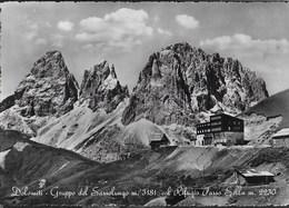 DOLOMITI - RIFUGIO PASSO SELLA - GRUPPO DEL SASSOLUNGO - FOTOEDIZIONE GIULIO MARINO V. VENETO - NUOVA - Alpinisme