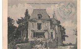 Cpa 55 Sampigny Chateau Poincaré Bombardé - France