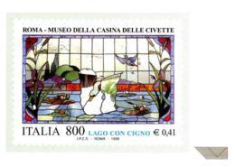 [MD2433] CPM - RIPRODUZIONE FRANCOBOLLO POSTE ITALIANE - ROMA - MUSEO DELLA CASINA DELLE CIVETTE - Non Viaggiata - Timbres (représentations)