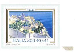[MD2434] CPM - RIPRODUZIONE FRANCOBOLLO POSTE ITALIANE - LIPARI (ME) - IL TURISMO - Non Viaggiata - Timbres (représentations)