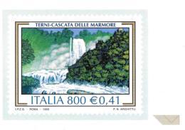 [MD2435] CPM - RIPRODUZIONE FRANCOBOLLO POSTE ITALIANE - TERNI CASCATA DELLE MARMORE - IL TURISMO - Non Viaggiata - Timbres (représentations)