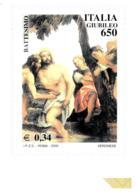 [MD2437] CPM - RIPRODUZIONE FRANCOBOLLO POSTE ITALIANE - GIUBILEO - BATTESIMO - Non Viaggiata - Timbres (représentations)