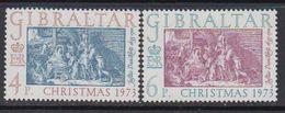 Gibraltar 1973 Christmas 2v ** Mnh (41485H) - Gibraltar
