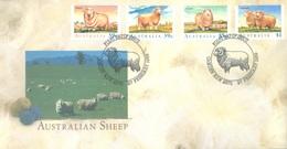 AUSTRALIA  - FDC - 27.2.1989 - SHEEP - Yv 1107-1110 - Lot 18656 - Premiers Jours (FDC)