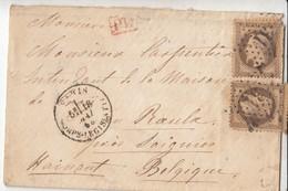 """N° 30 (2) ( 1 Dft) )/  L (.) Etoile """" 31"""" De Paris / CORPS LEGISLATIF / 18.5.68-> Le ROEULX / Belgique Par FRANCE / MID - 1849-1876: Periodo Classico"""