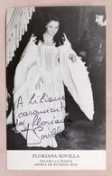 Musica Lirica - Autografo Della Cantante D'opera Floriana Sovilla - 1980 - Autografi